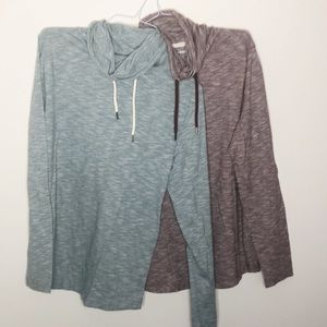 Express men's bundle of two cowl neck tops